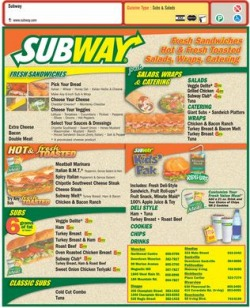 Calories In A subway Sandwich Calculator Download